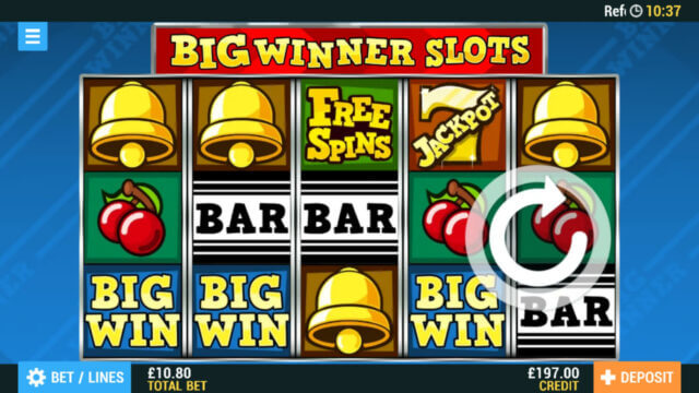 Big Winner Slots online slots at PocketWin online casino - in game image