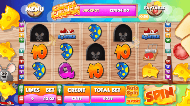 Cheese Chase Online Slots at PocketWin Online Casino - in game image