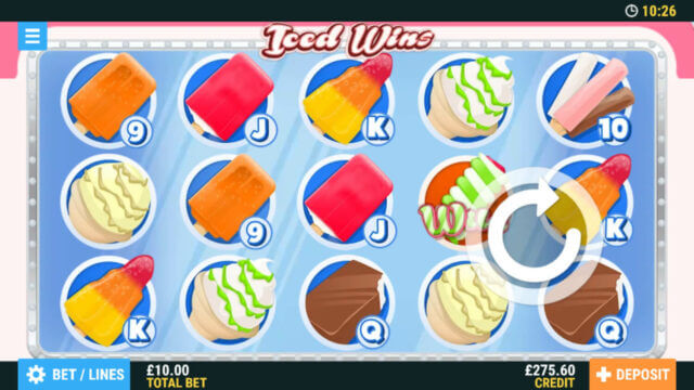 Iced Wins mobile slots by PocketWin online casino - in game image