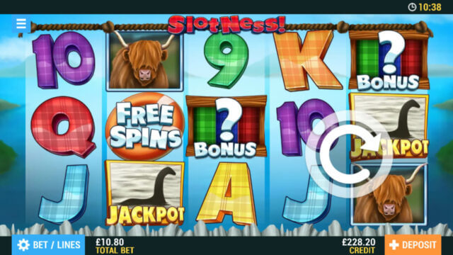 Slotness! Online Slots at PocketWin Online Casino - in game image