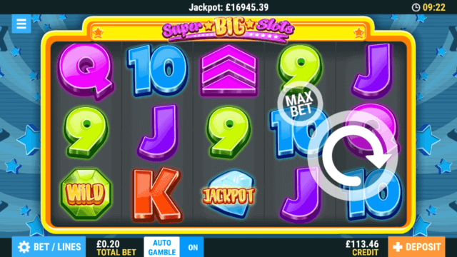 Super Big Slots Online Slots at PocketWin Online Casino - in game image